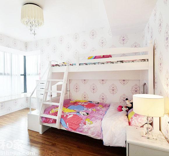 12图双人儿童房 高低床快乐成双_家居设计_大众网