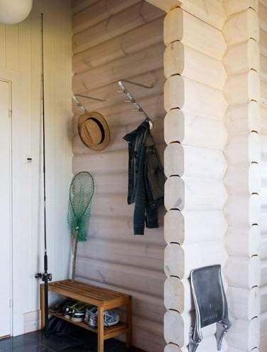 玄关屏风隔断效果图:设置在室外的玄关完全独立于室内空间,