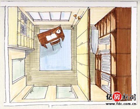 走入式衣柜设计图展示