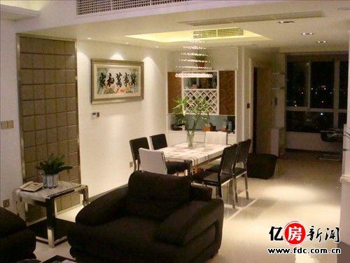 客厅木工电视墙造扇型