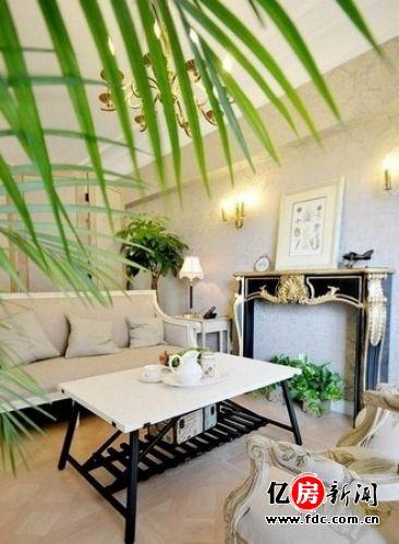 客厅,不仅主妇优雅,家具摆设也很优雅.