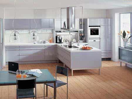 整体橱柜-家居建材流行趋势 浅色系地板唱主角